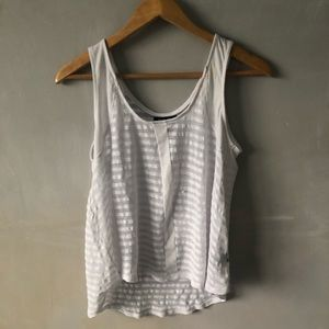 Tops - sheer striped tank top